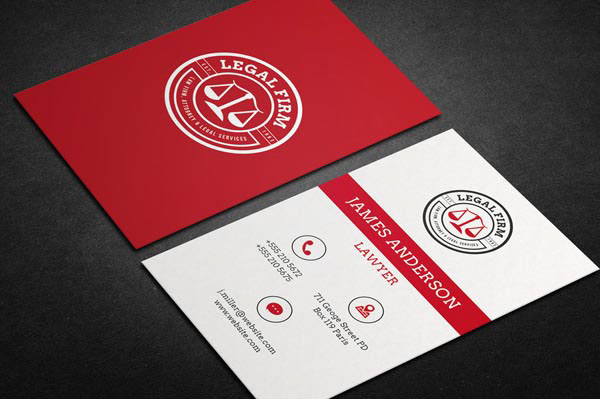 Examples of lawyer business card on behance 40 awesome lawyer business card for your inspiration these business cards are made specifically for the lawyers advocate and other law related job colourmoves