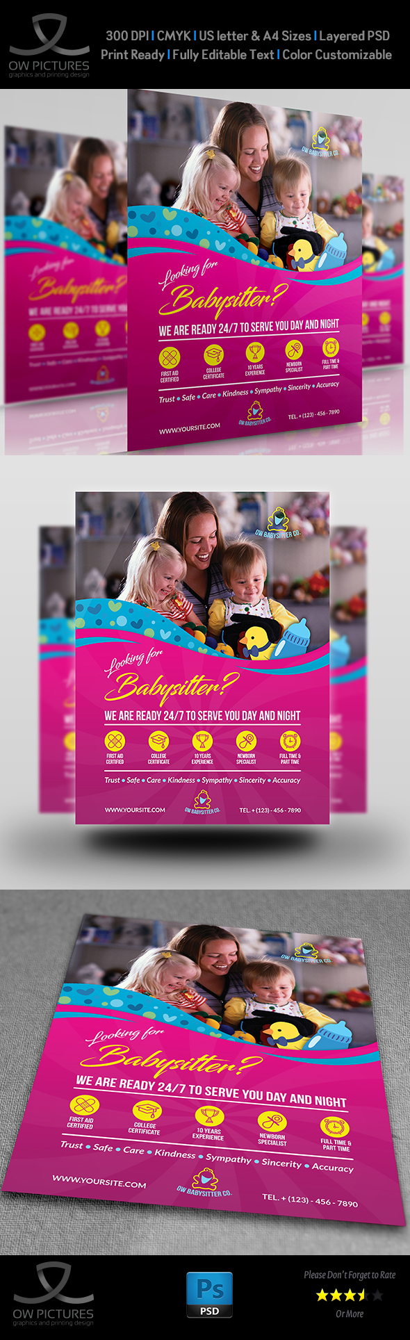 Babysitter Flyer Template On Behance