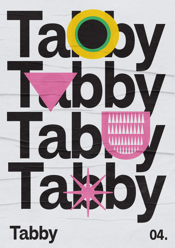 Cat cats geometric graphic design  posters type typography
