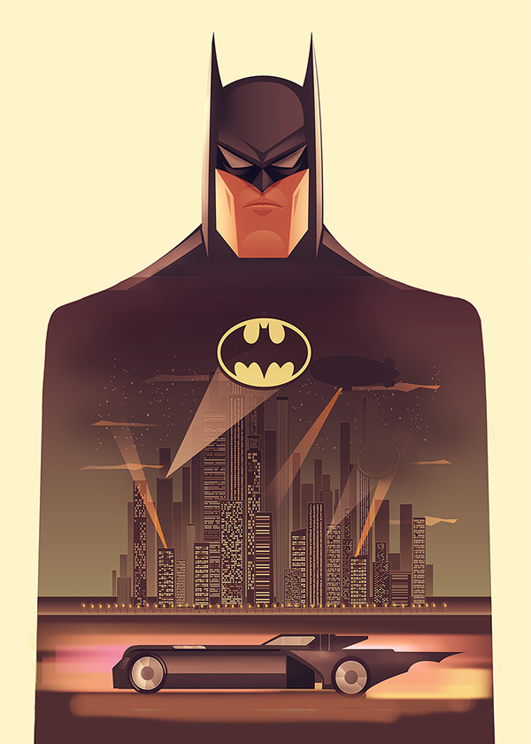 batman the animated series poster vector on behance. Black Bedroom Furniture Sets. Home Design Ideas