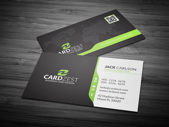 Corporate business card template with global map free p on behance colourmoves
