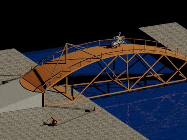 how to build a leonardo da vinci bridge