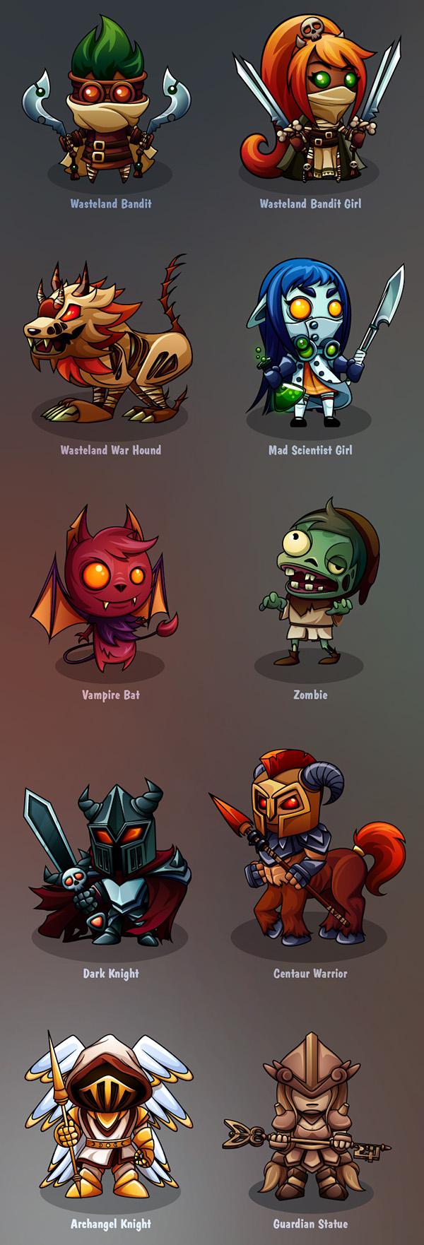 Design A Cartoon Character Game : Characters design mobile turn based game on behance