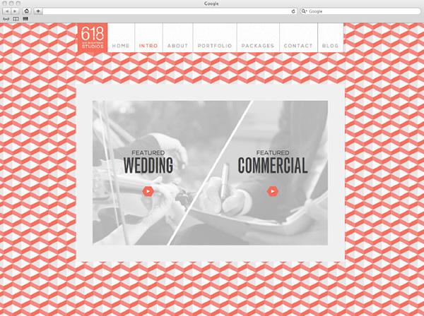videographer website pattern single page website Wordpress Website