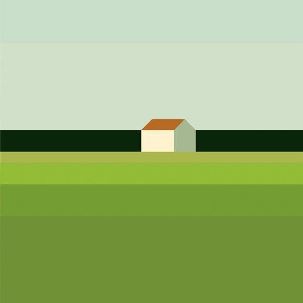 landschaft mit haus © maria zaikina