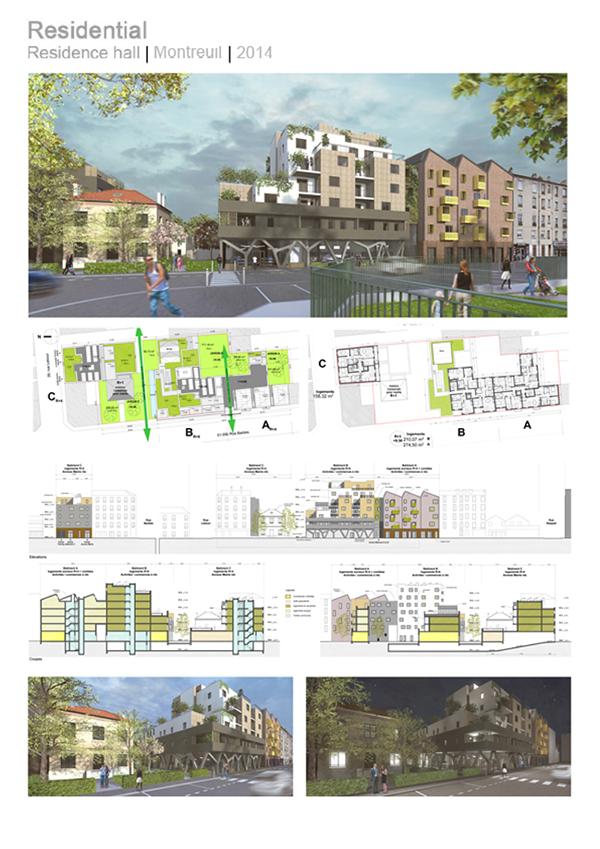Architectural professional portfolio on behance for Professional architect