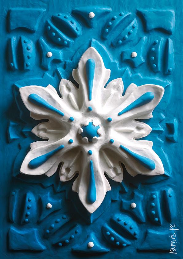 snowflake Christmas christmas card card navidad Postal navidad plastilina Plasticine modeling postcard