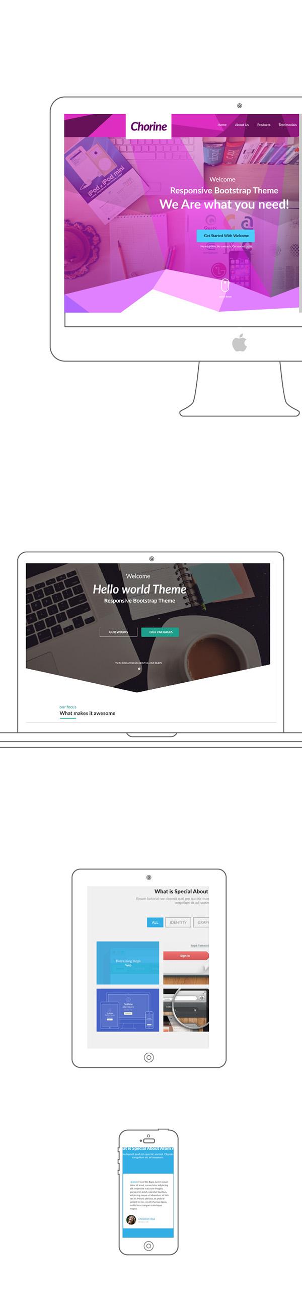 Mockup outline apple device free