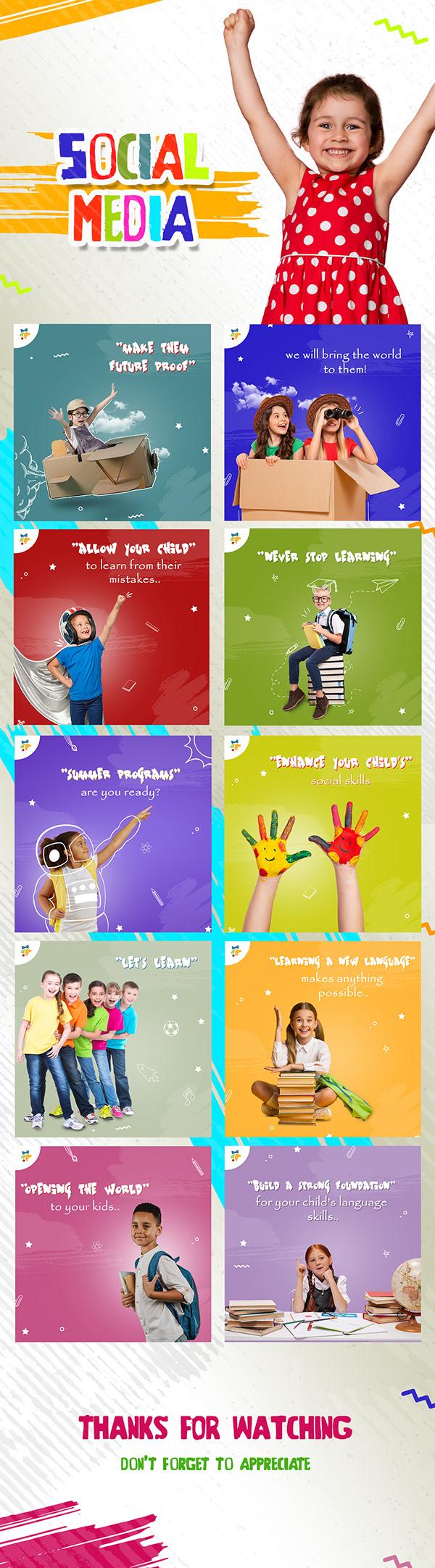 kids school/ social media