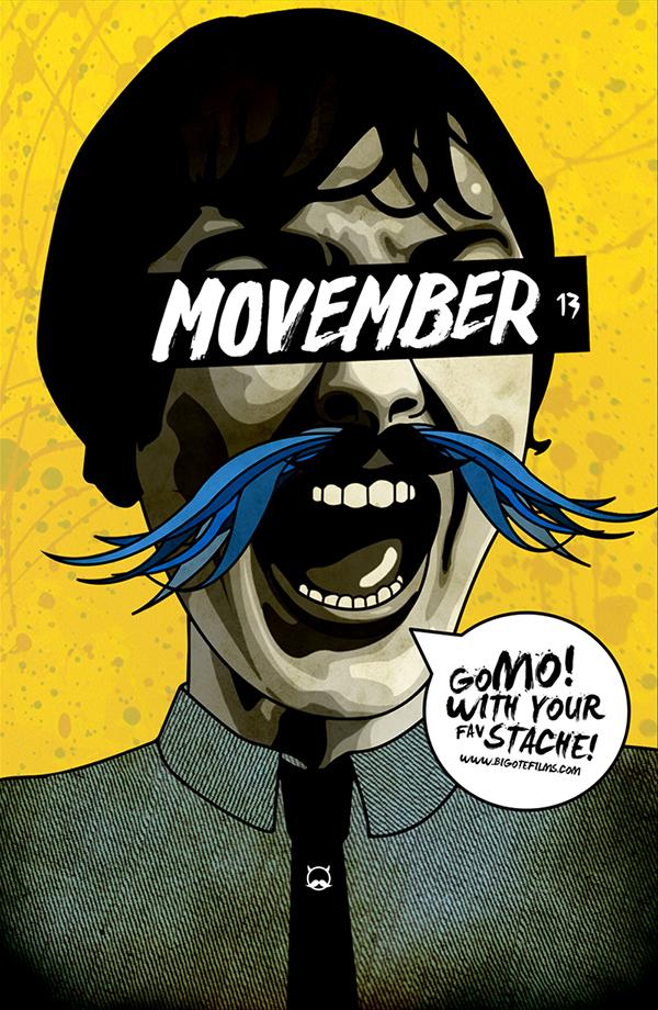 bigote moustache mustache Movember bigotefilms design portrait Dani tinez Danitinez