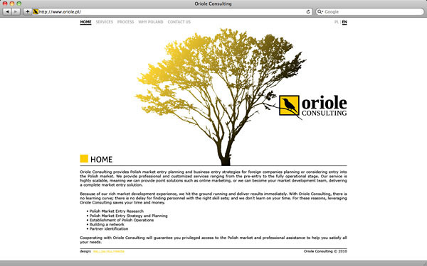 mallow oriole corporate visual identity logo Website graphic