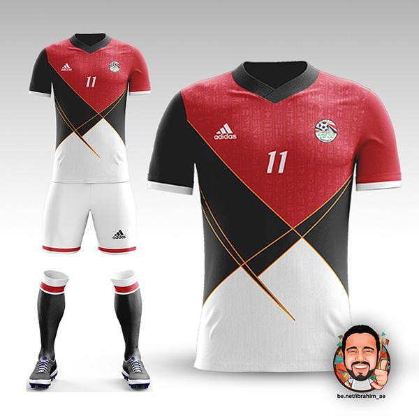 Egyptian National Team Football Kit Concept on Pantone Canvas Gallery 42afa76e8