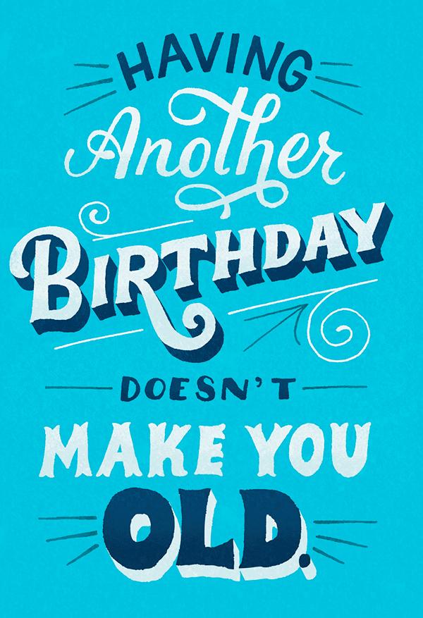 hallmark birthday cards on behance