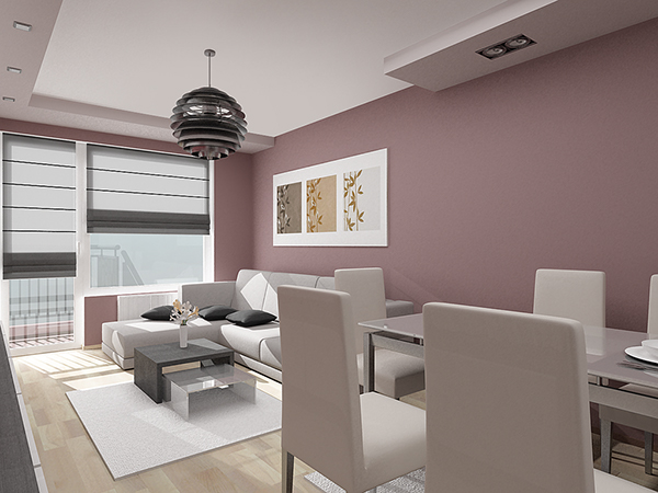 Home Interior Design 07 One Bedroom Apartment On Behance
