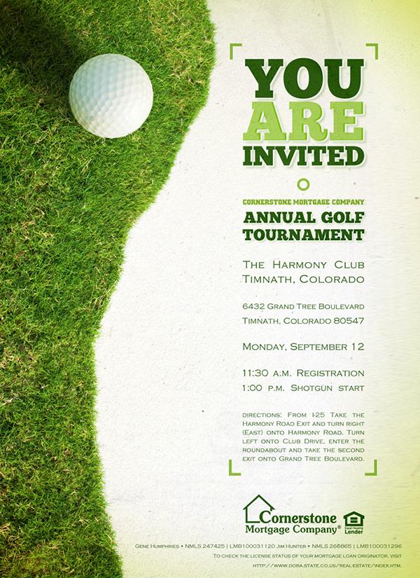 """2011 Cornerstone """"Colorado"""" Golf Tournament Collateral on ..."""