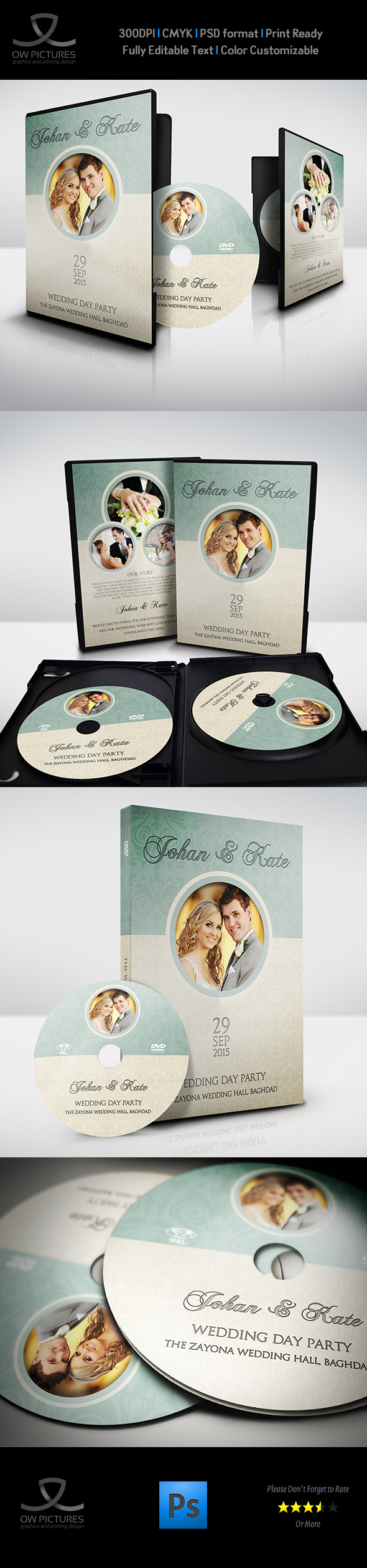 Wedding dvd cover and dvd label template vol8 on behance pronofoot35fo Choice Image