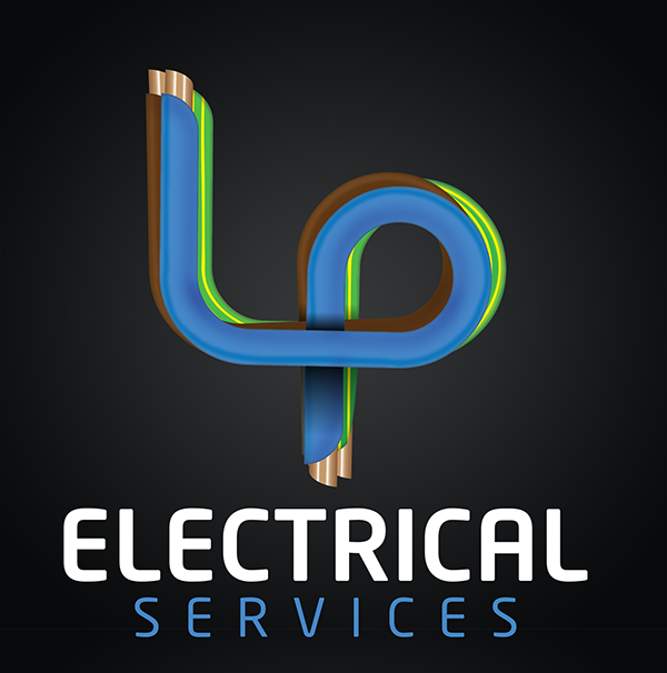 Lp electrical services logo on behance more work to follow for this company in the form of business cards and van livery colourmoves