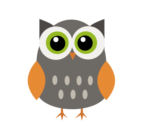 School Work First Work With Illustrator Vector Owls On