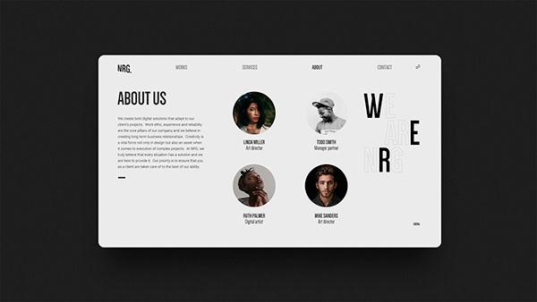 Web design for NGR Art House agency