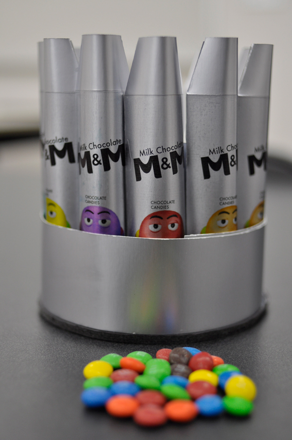 M&M Packaging Space  futuristic redesign Project chocolate