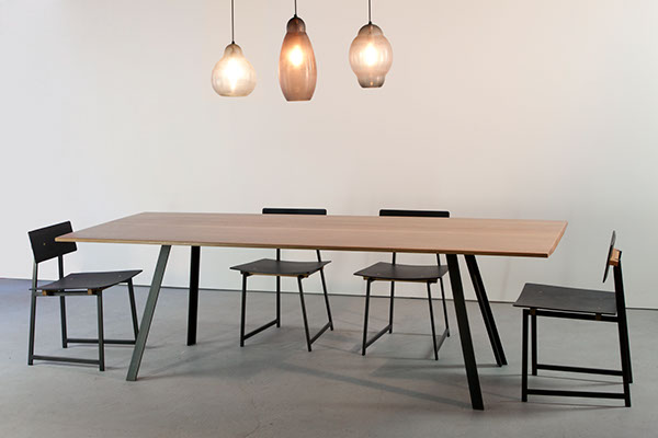 The Canted Dining Like All Items In TOKENnyc Collection Is Designed Developed And Handcrafted Brooklyn NY 30x 36x 72