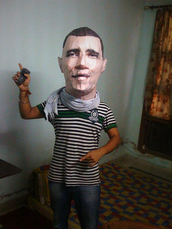 President Obama Paper Bag Puppet