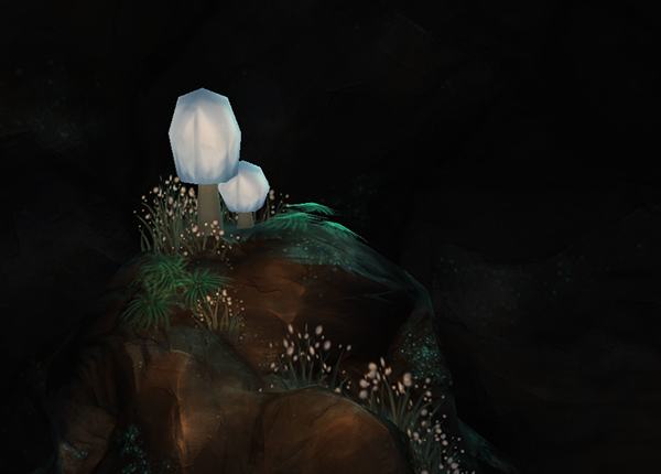 sanctuary Fungi plants atmospheric Nature lighting Colourful  rich game bioluminescence conservation lab 3D