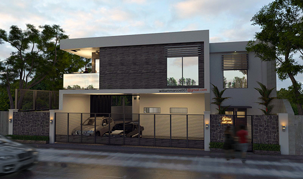 Modern minimalist philippines on behance for Minimalist house sketchup