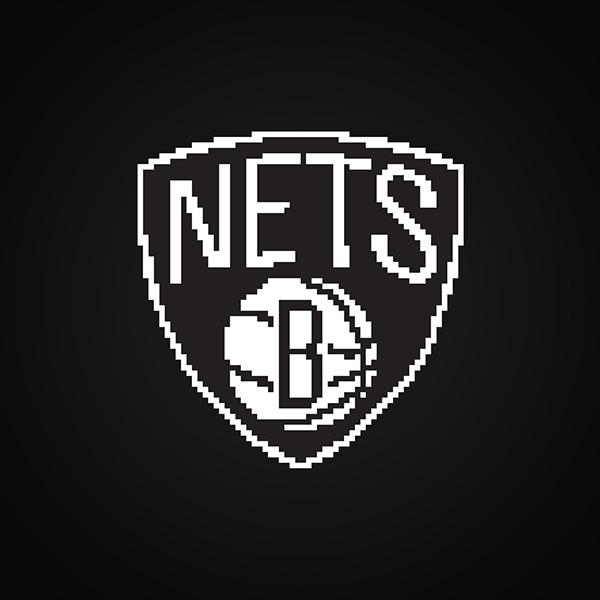 8 bit style   nba logos on pantone canvas gallery