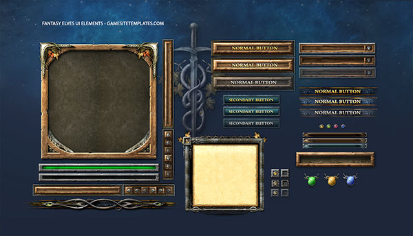 Fantasy game ui on behance for Evolus pencil templates