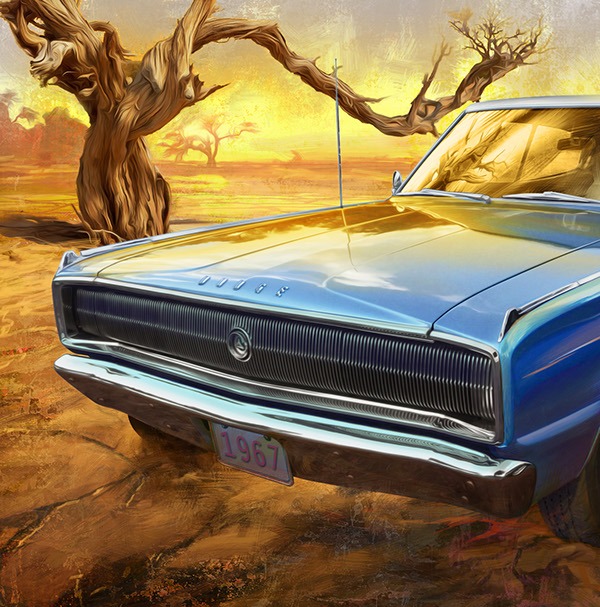 American Muscle Car Paintings On Behance