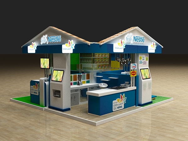 Nestle Exhibition Booth : Nestle b urbest booth on behance