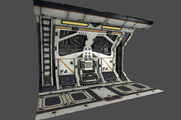 Sci-Fi Corridor on Behance