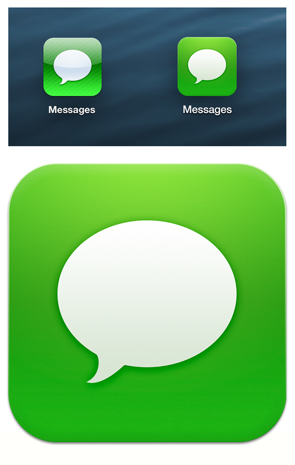 Ios 7 Messages Icon On Behance