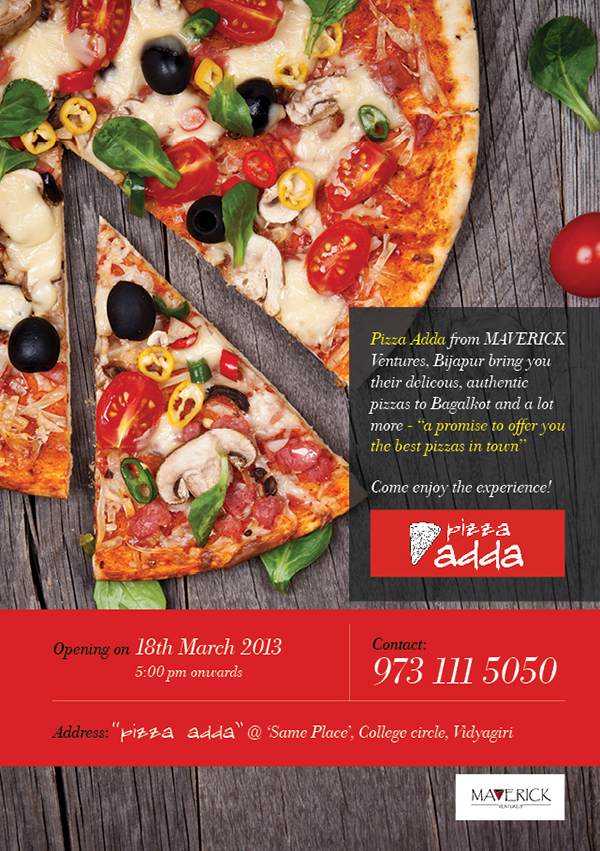 pizza sale flyer template - pizza adda flyer on behance