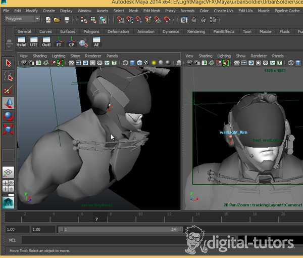 Lighting and Rendering a Sci-Fi Hero with V-Ray in Maya on