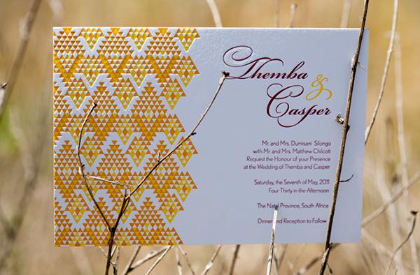 Letterpress african british wedding suite on behance stopboris Images