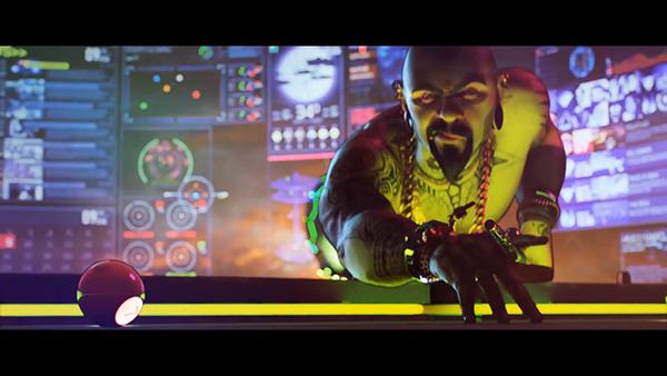 trailer xbox Microsoft game action explosion sci-fi agents gang building Truck explosives UI widget design