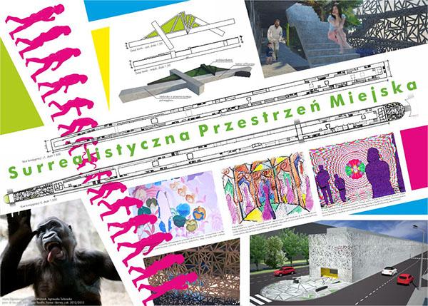 zoo monkey małpiarnia cage surrealizm surrealism city space przestrzeń eksperyment experiment