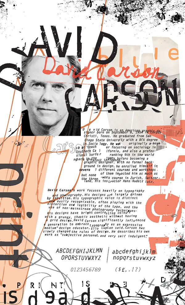Favourite designers david carson on pinterest david for Designer david