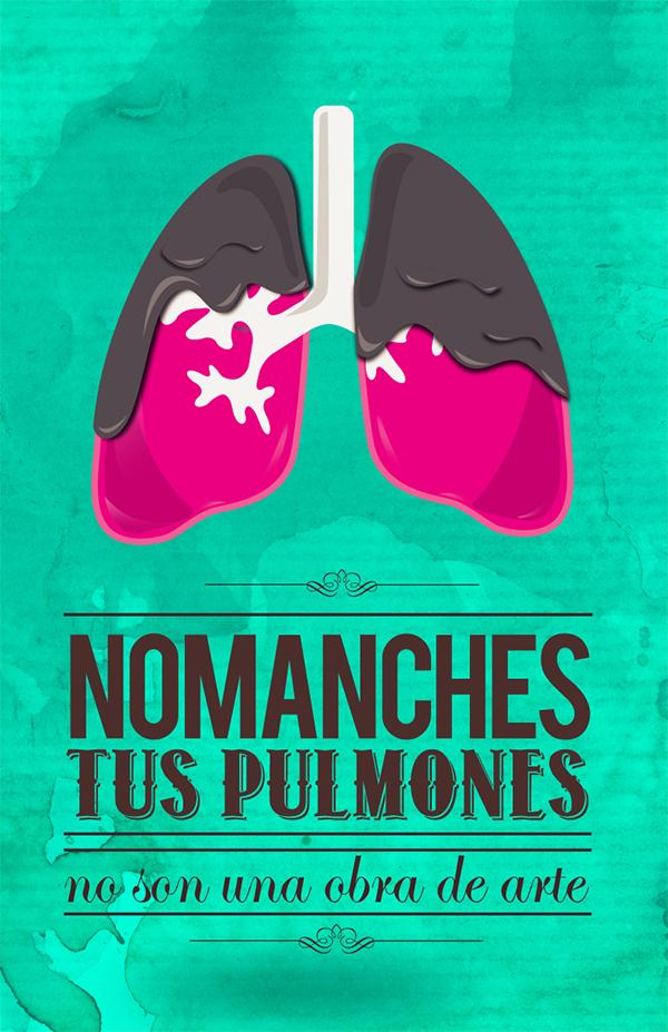 Dia Internacional Contra El Tabaquismo On Pantone Canvas