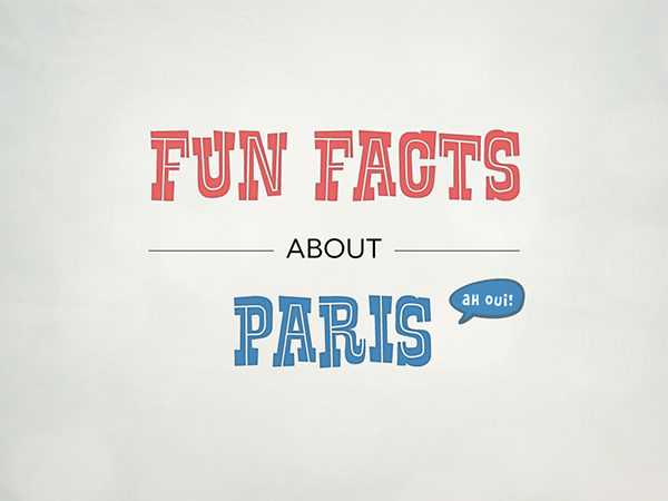 Fun facts about Paris (illustrated infographics) on Behance