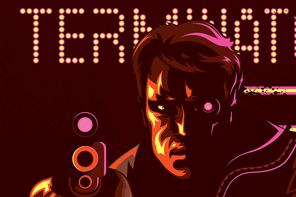 Terminator 1984 Vector Movie Poster by Josh Campbell