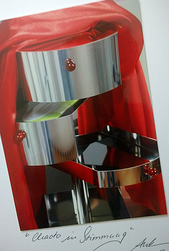 Beauty table beauty table manager Space  wood steel polished steel handcrafted madeingermany