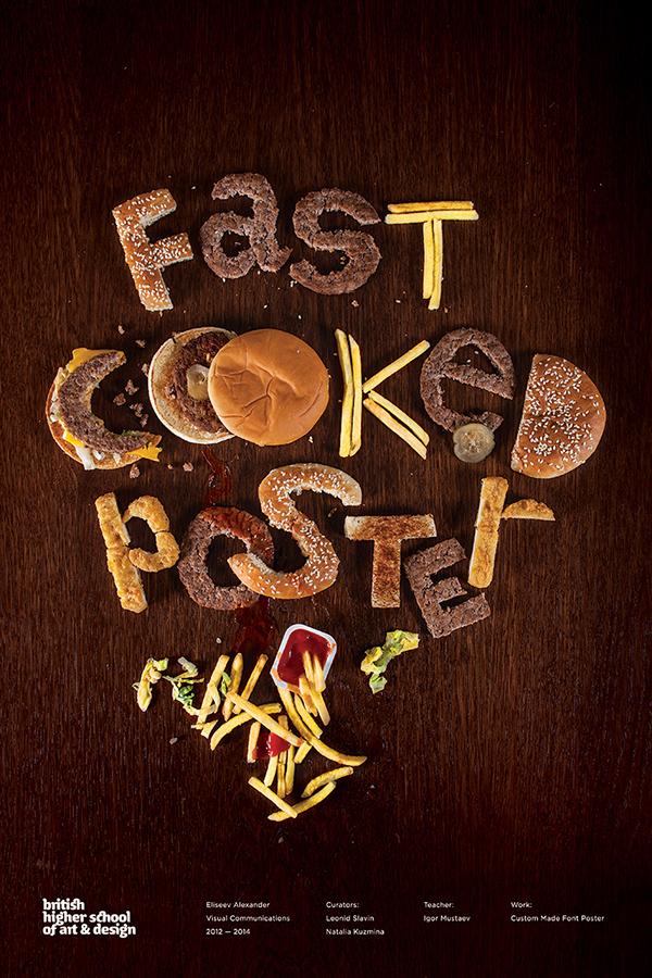 BHSAD Fast food poster viscom junk food letters