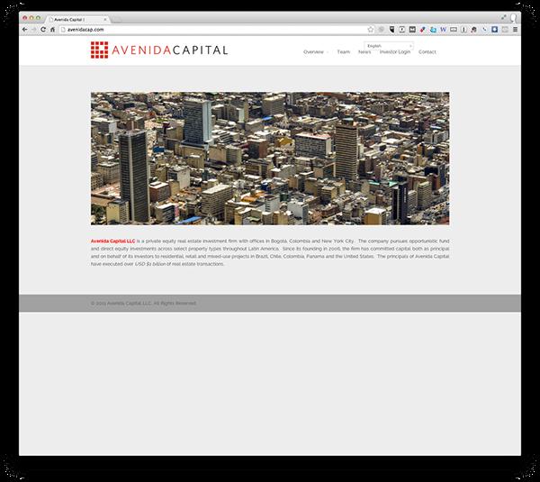 Avenida Capital Website