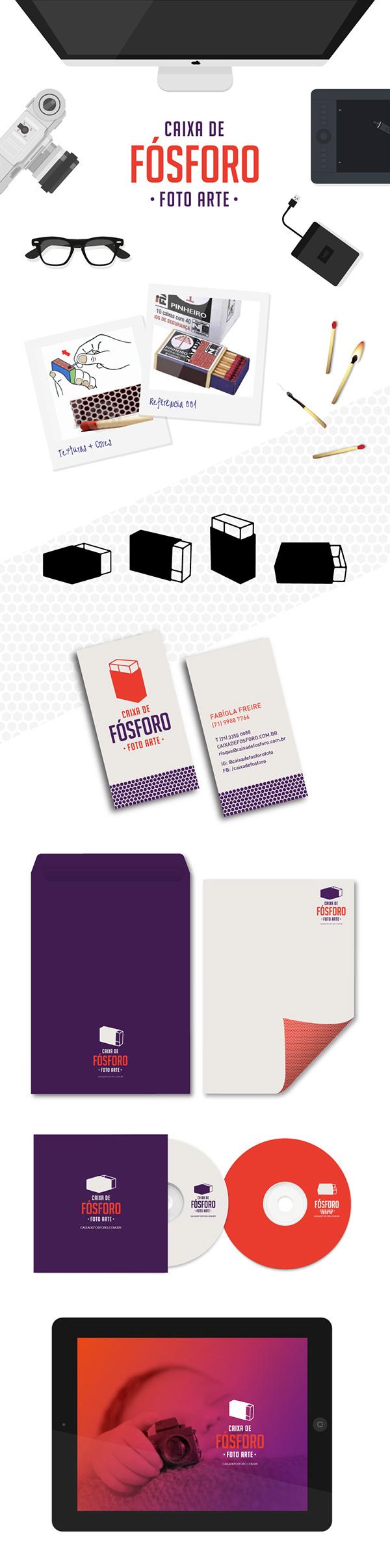 Caixa de fósforo fosforo Matches Fotografia salvador marca identidade visual