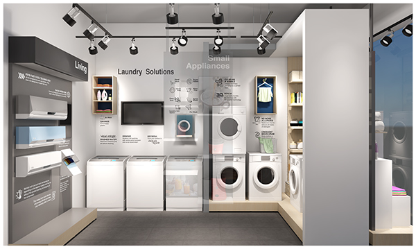 ifb point   appliance store design on pantone canvas gallery