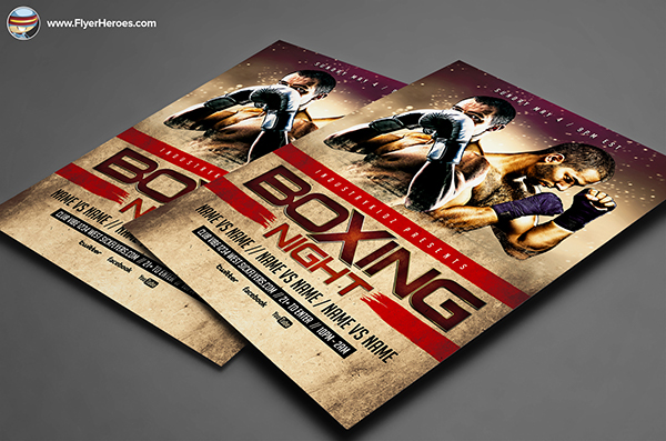 Boxing Night Flyer Template on Behance – Ufc Flyer Template