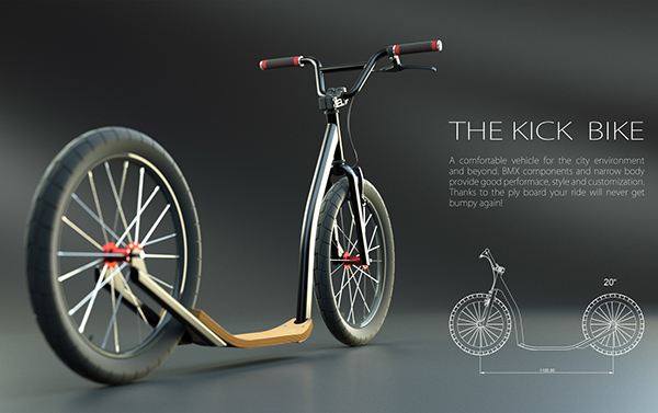kick bike, trot design 53e5d023380243.56322ba94f469